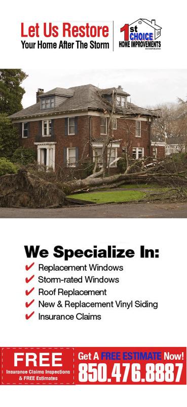Hurricane Shutters Vinyl Siding Remodeling Replacement Windows 1st Choice Home Improvements Mobile Pensacola Fort Walton Beach