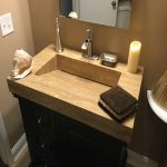complete makeover of guest bathroom